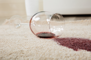 Cleaning carpet stains.