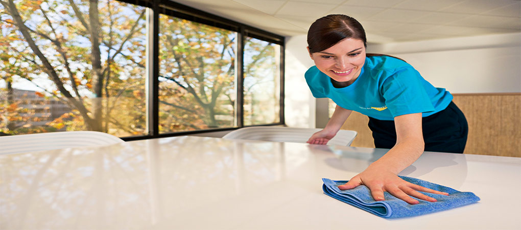 Wiping Down A Conference Table