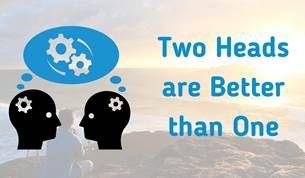 two heads showing people thinking